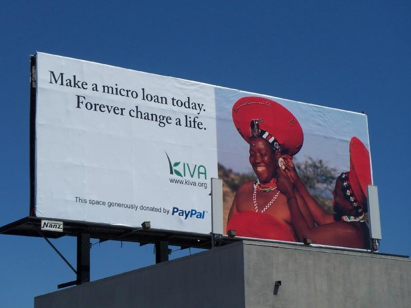 Kiva Billboard