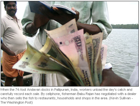 Fishermen in Kerala washington post